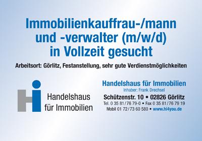 - Anzeige - Immobilienkauffrau-/mann  und -verwalter (m/w/d) in Vollzeit