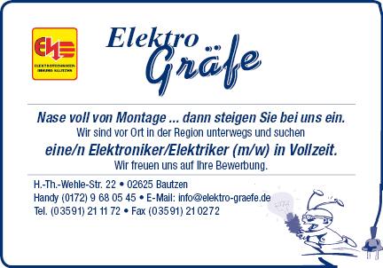 -Anzeige- Elektro Gräfe
