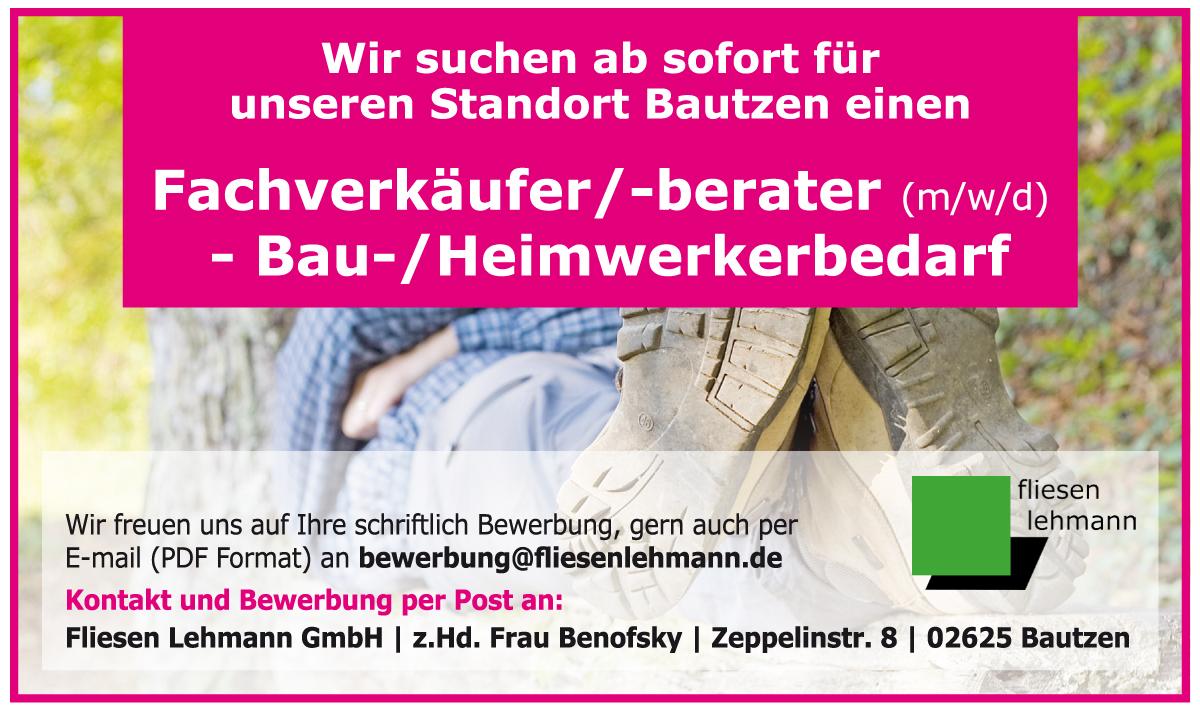 - Anzeige - Fliesen Lehmann GmbH