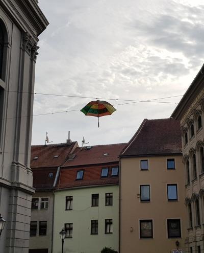 Regenschirme für den Johannisplatz
