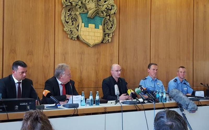 Pressekonferenz zu den Tumulten vom Mittwoch in Bautzen