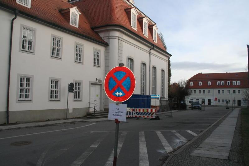 Verkehrsregelung am Zinzendorfplatz