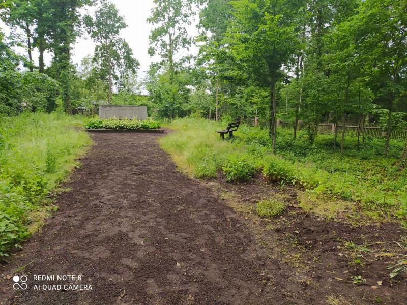 Ehrenfriedhof in Hartau von Unkraut befreit