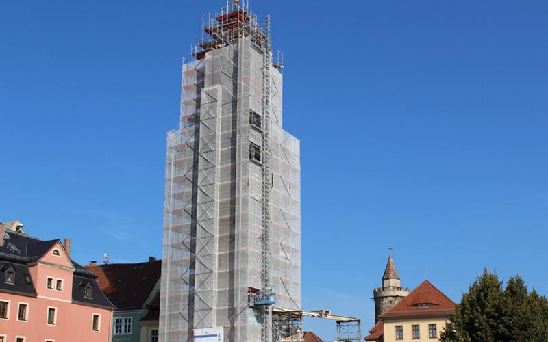 Der Reichenturm wird bald zum Leuchtturm