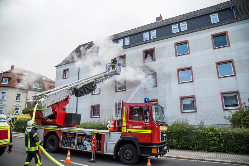 Wohnungsbrand in Bischofswerda