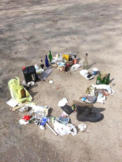 Schüler sammelten Abfälle