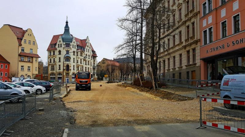 Bauarbeiten am Kreisverkehr fortgesetzt