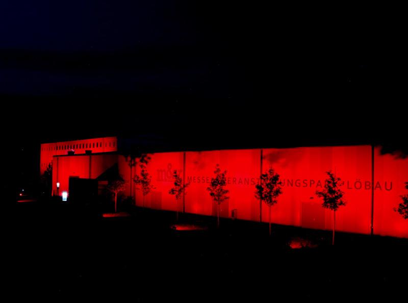 Night of Lights 2020 - Löbauer Messehallen in Rot