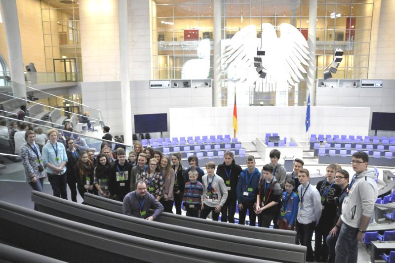 Schülerpreisträger im Bundestag