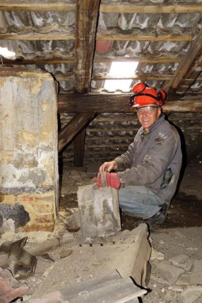 Teil der Dachfläche repariert