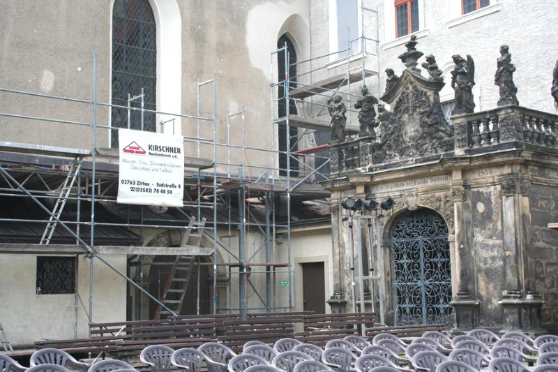 Zittauer Klosterhof wird restauriert