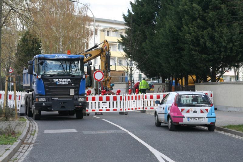Leipziger Straße voll gesperrt