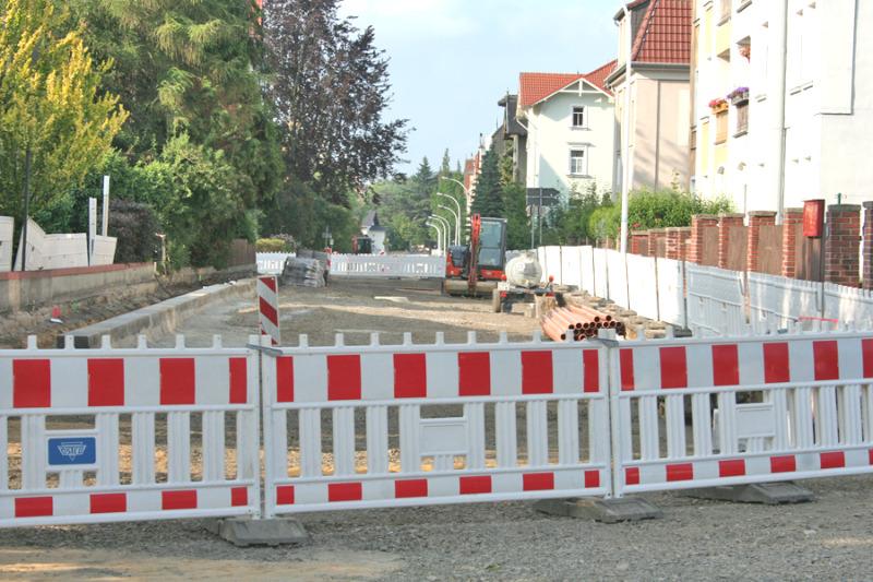 Baumaßnahmen in der Schrammstraße