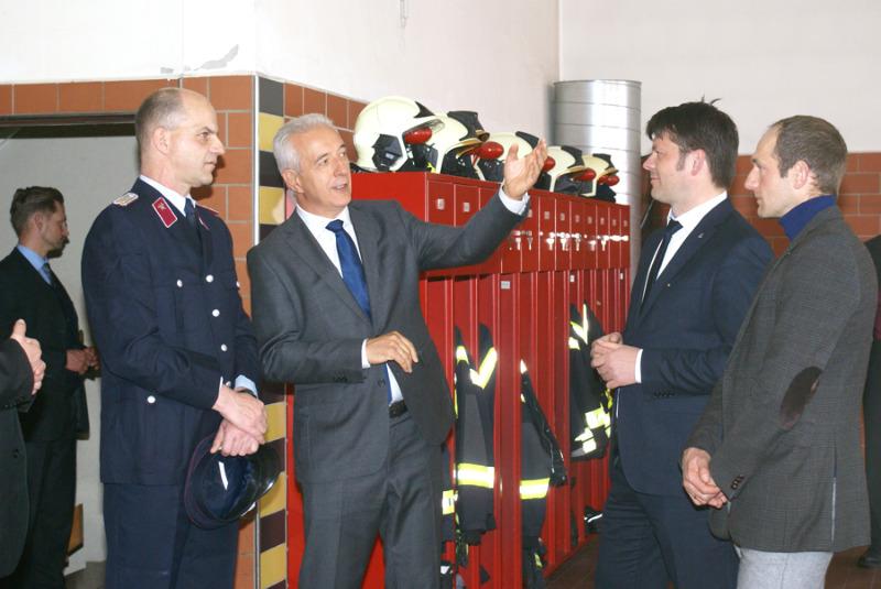 Tillich bei der Zittauer Feuerwehr