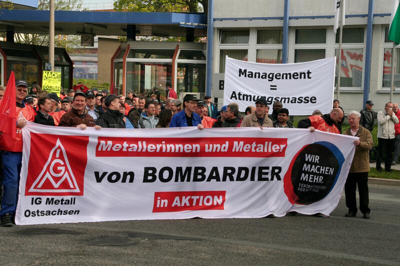 IG Metall mit Warnstreik bei Bombardier