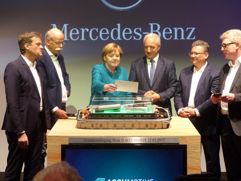 Daimler legt Grundstein für zweite Kamenzer Akku-Fabrik