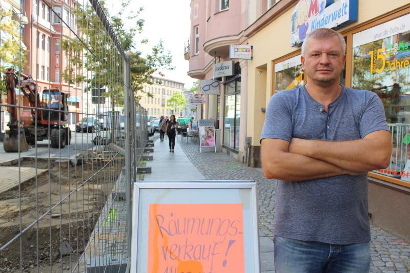 Baustelle zwingt Händler zum Umzug