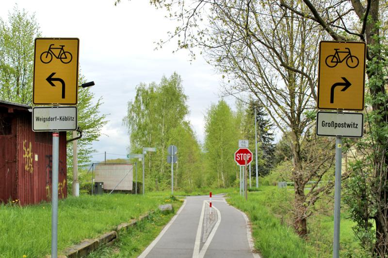 Wie weiter am Bahnradweg?
