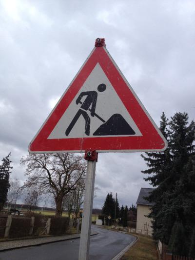 Bauarbeiten in Kleinwelka