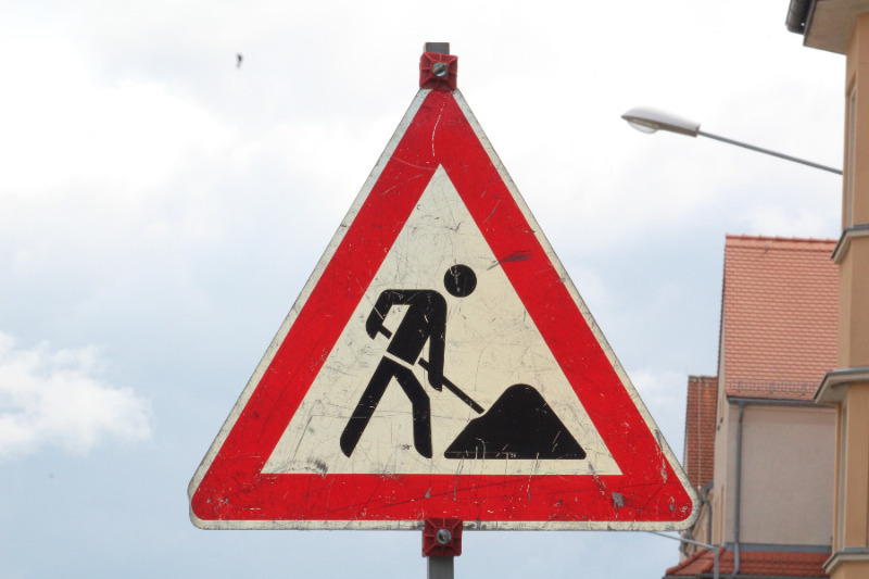 Staatsstraße voll gesperrt
