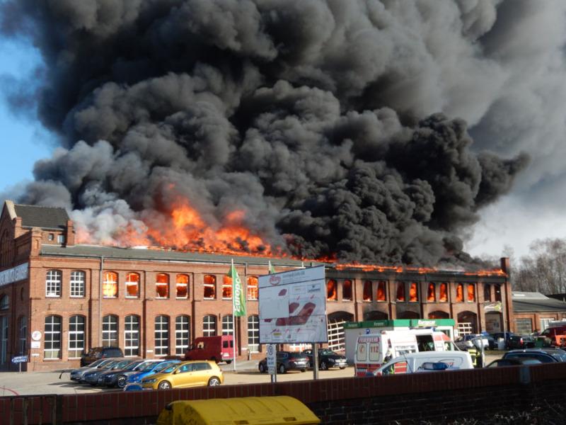 Großfeuer in Görlitz
