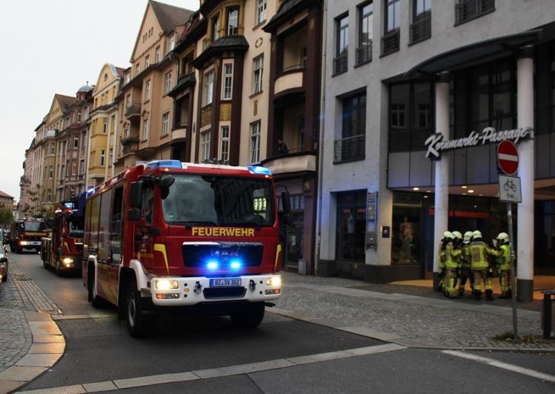 Feueralarm in Kornmarkt-Passage