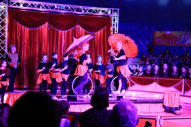 Der Zirkus lebte dank der Kinder