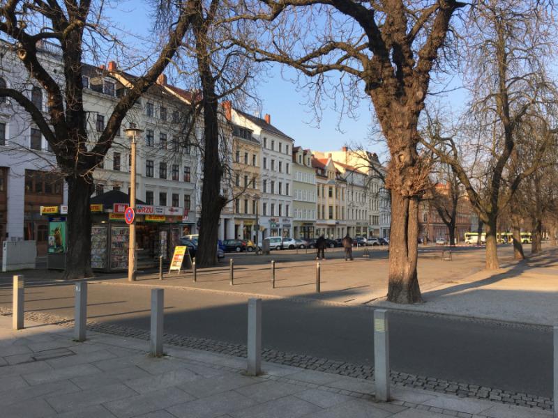 Mobile Marktstände nun in der unteren Elisabethstraße in Görlitz