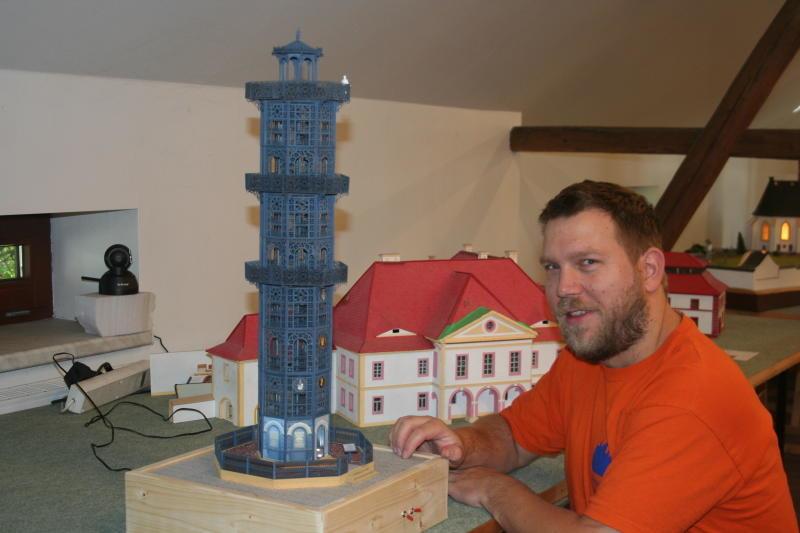 Der Löbauer Turm als Miniaturausgabe