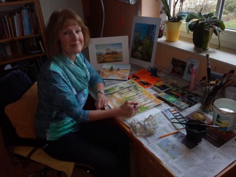 Marita Großmann malt