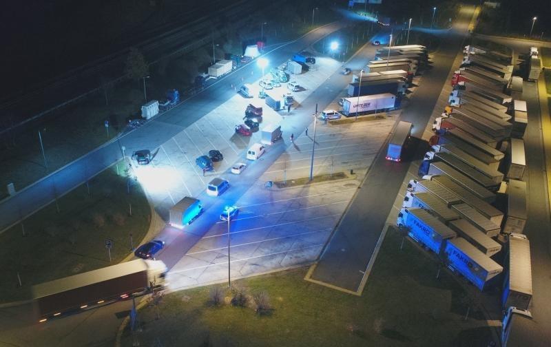 Eine Fahndungsnacht der Polizei an der Grenze