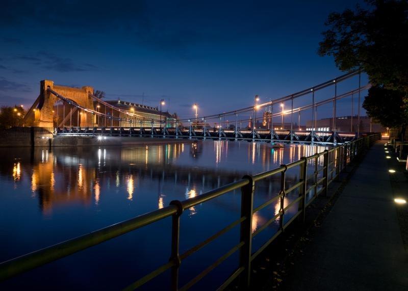Breslau bei Nacht