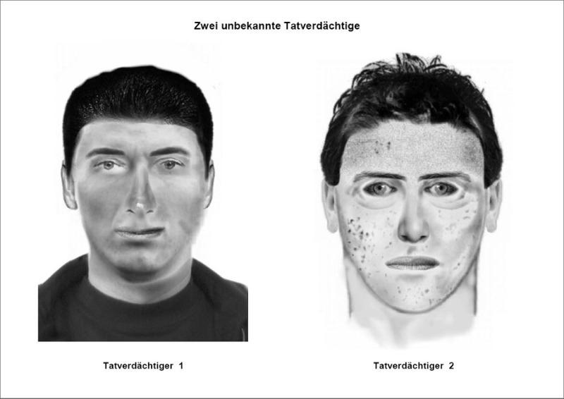 Update: Polizei sucht mit Phantomfoto nach mutmaßlichen Räubern