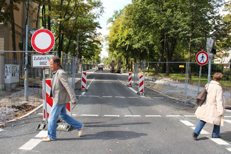 Baustelle in Schilleranlagen bleibt