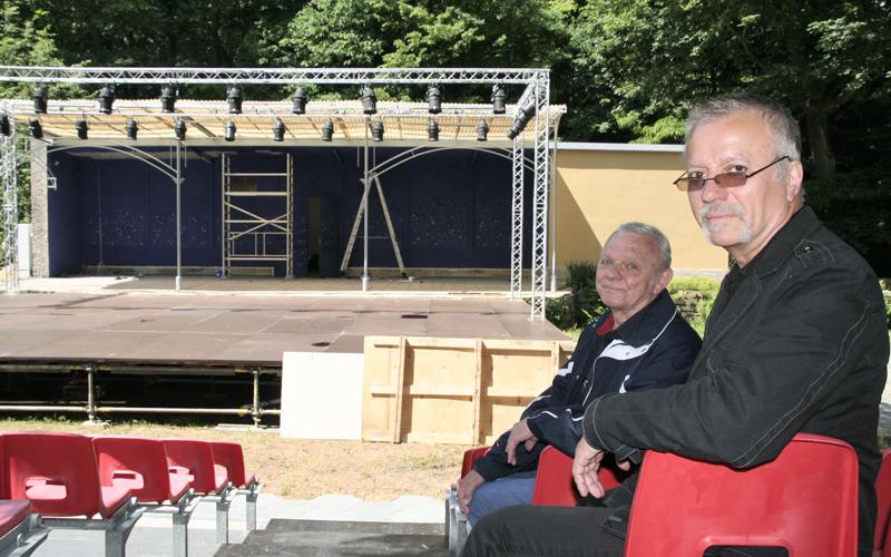 Stadthallengarten fit fürs Sommertheater