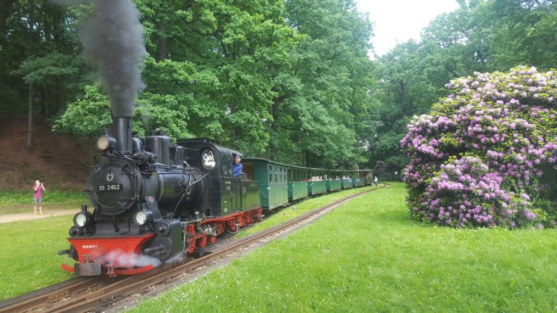 Mit Volldampf im Bahn'l in den Kromlauer Park