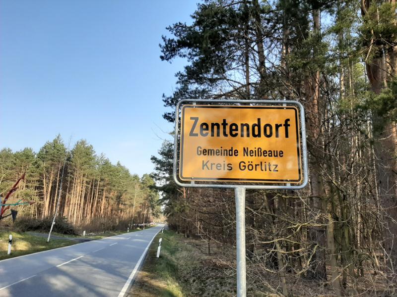 Höchstgeschwindigkeit in Zentendorf herabgesetzt