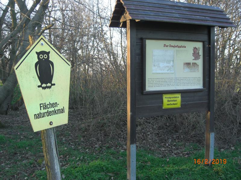 Tagebaubetreiber sperrt Teufelsstein