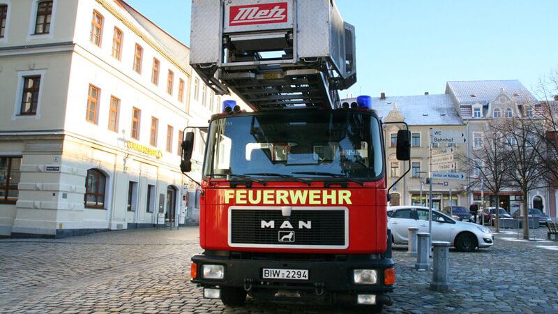 Fachwerkhaus in Flammen