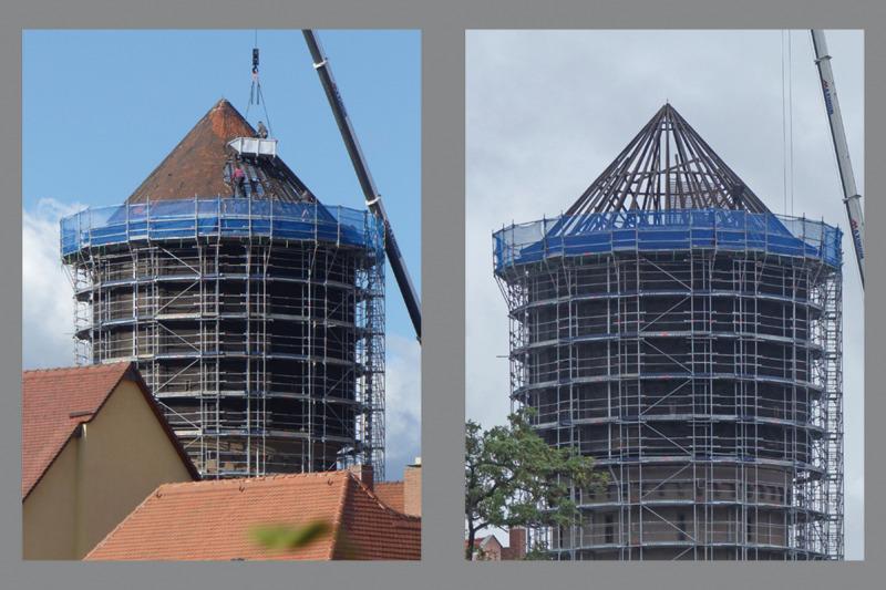 """Wasserturm zeigt sich """"oben ohne"""""""