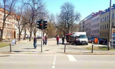 Am Karsamstag bereits acht Händler in der Elisabethstraße