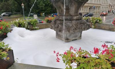 Brunnen in der Stadt verunreinigt