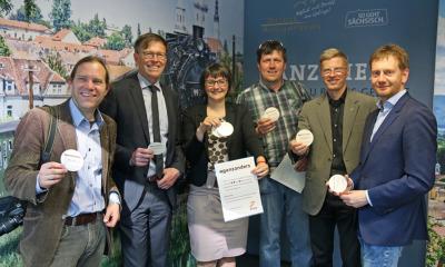 Zittauer Infobox auf Dresdner Flughafen wirbt für Region