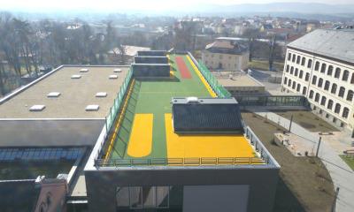 Frühling auf dem Dach