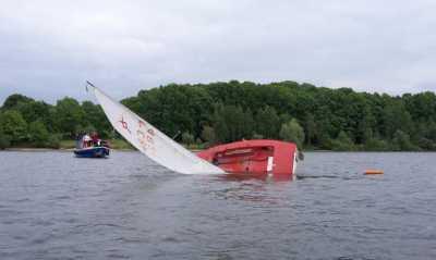 Was passiert, wenn das Boot plötzlich auf dem Stausee kentert?