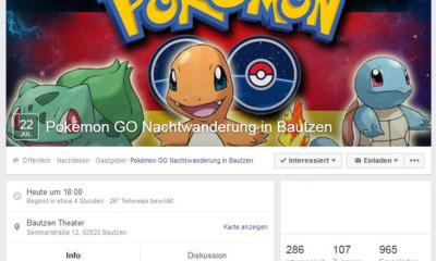 Nächtliche Pokémon-Jagd in Bautzen