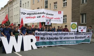 Siemens-Auszubildende kämpfen in Görlitz um ihre Zukunftschance