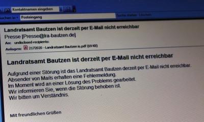 Behörden zeitweise per E-Mail nicht erreichbar