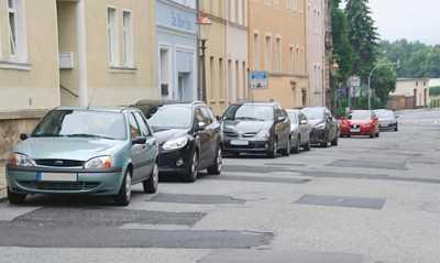 Die Böhmische Straße in Zittau vor Verjüngungskur