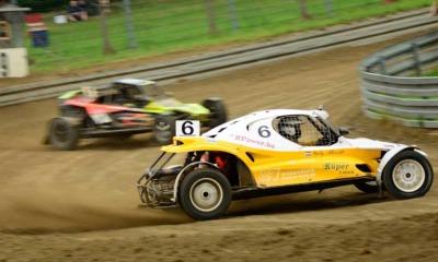 Rennaction bei der Autocross-DM am Matschenberg